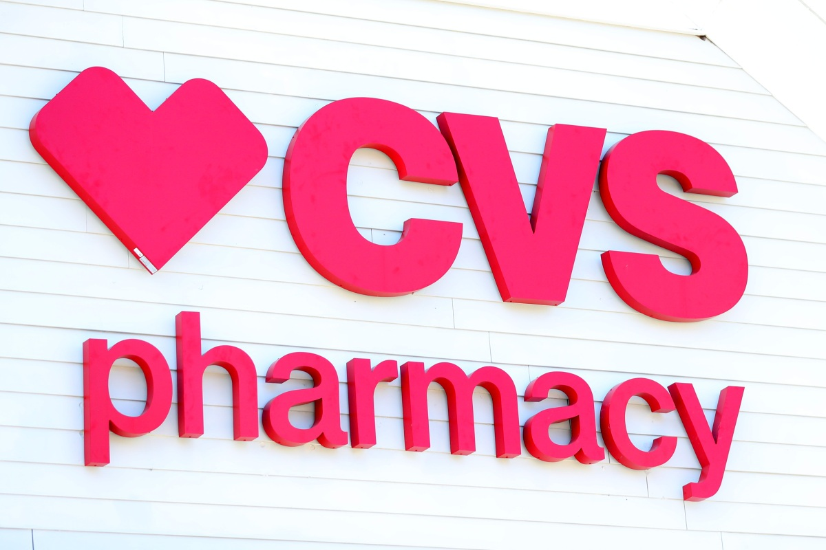 A sign on the side of the CVS Pharmacy on May 15, 2020 in Carver, Massachusetts. (Photo by Maddie Meyer/Getty Images)