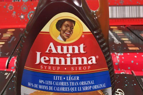 Aunt Jemima Syrup label in bottle. (Photo by Roberto Machado Noa/LightRocket via Getty Images)