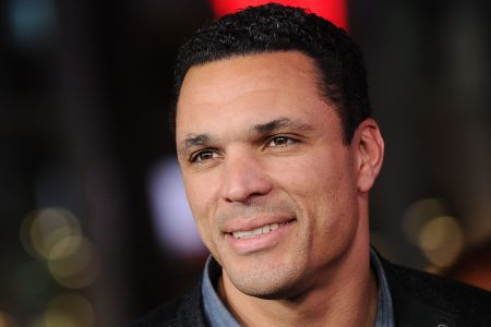 "Ex-NFL player Tony Gonzalez attends the premiere of ""xXx: Return of Xander Cage"" in 2017. (Jason LaVeris/FilmMagic)"