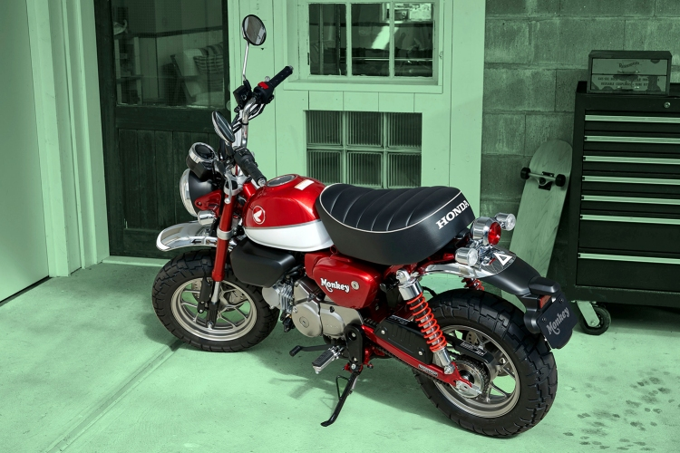 Red Honda Monkey Bike motorcycle