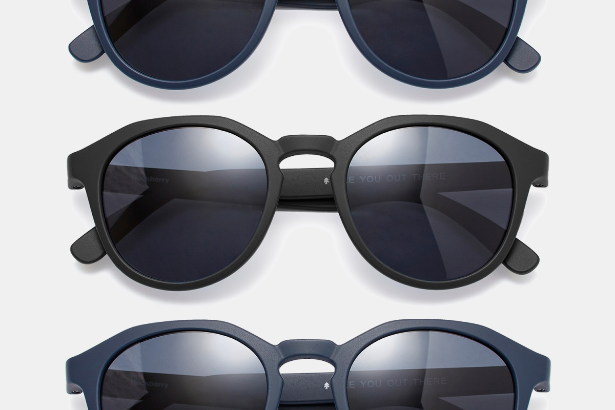 Huckberry polarized Cruisers sunglasses in black and navy