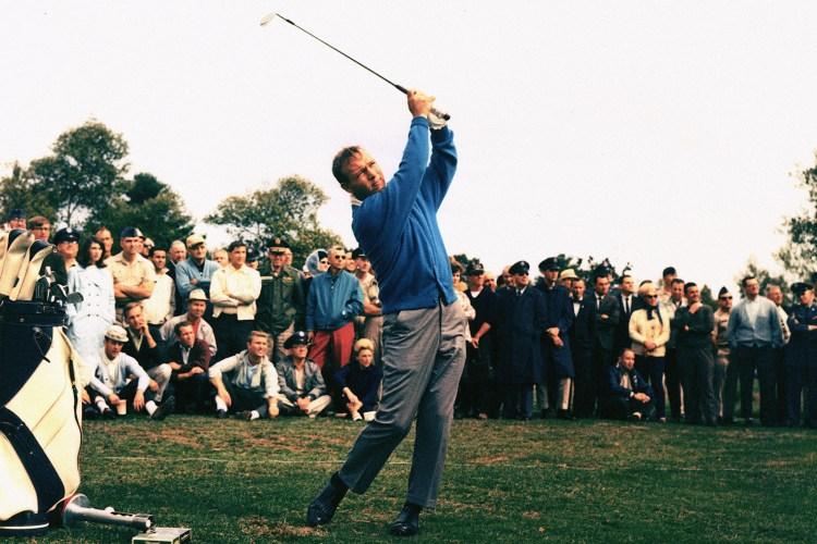 Arnold Palmer tees off, stylishly