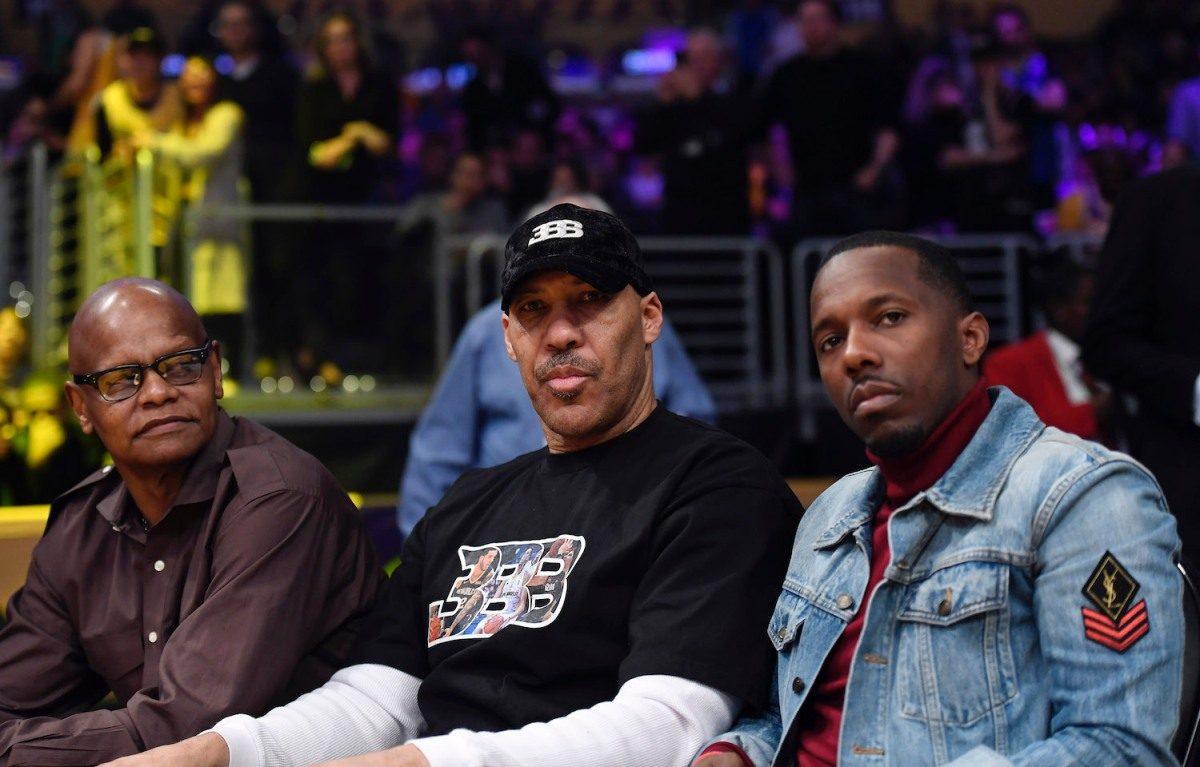 LaVar Ball at a Los Angeles Lakers game