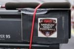 Monday Night Football logo on a TV camera