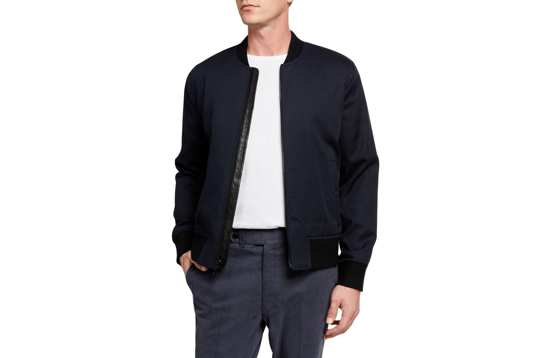 Zip-Front Bomber Jacket Vince