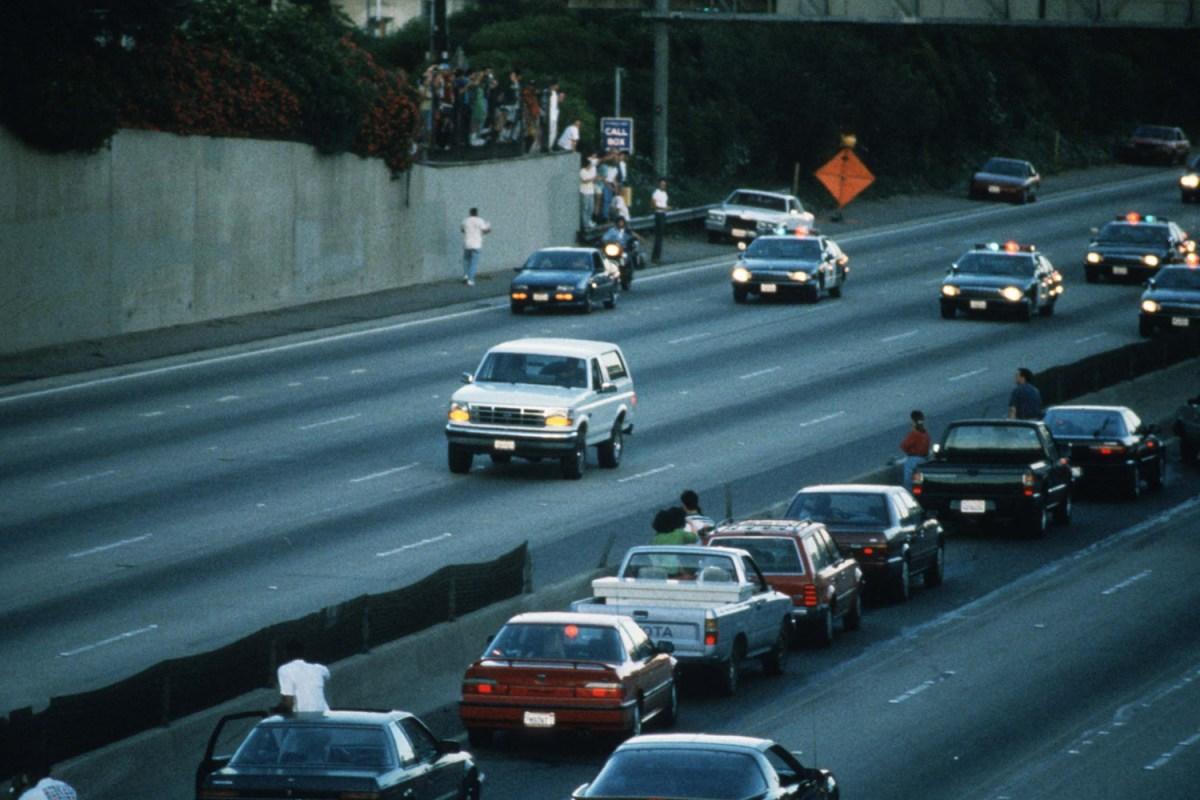 O.J. Simpson white Ford Bronco police chase