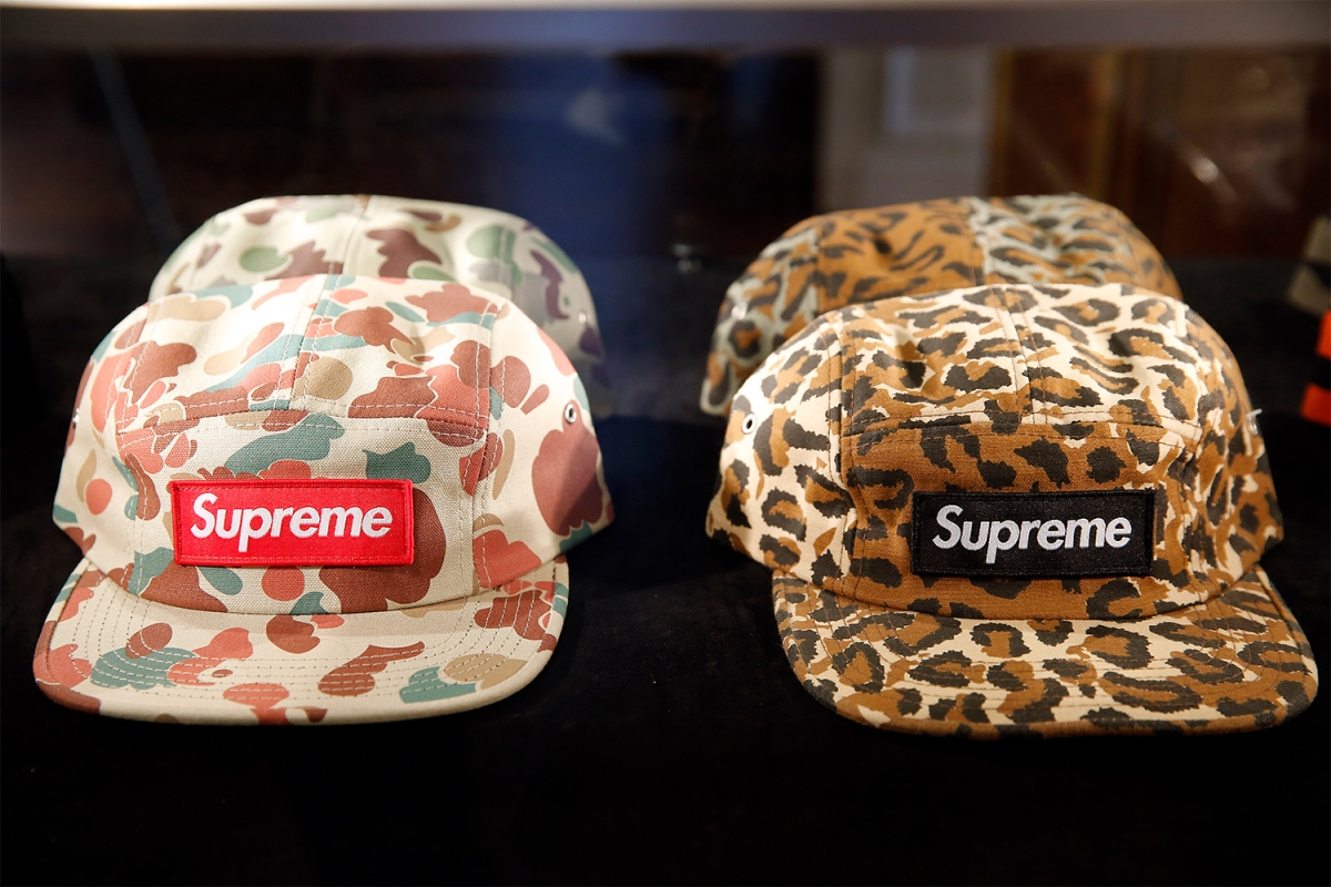 Duck Camo hats from streetwear brand Supreme