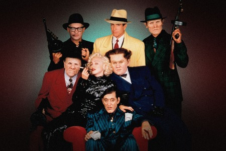 The stars of DIck Tracy are photographed