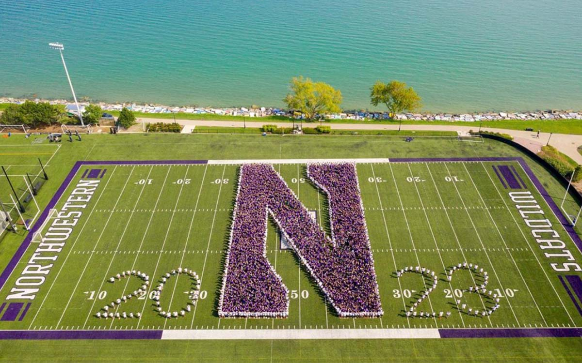 Northwestern University football field class of 2023