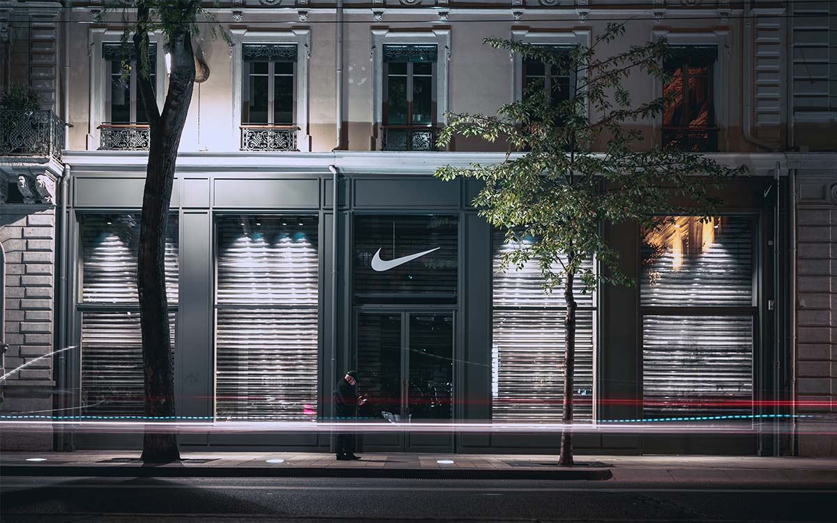Nike brand storefront