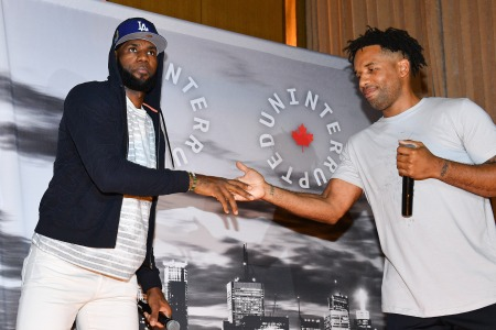LeBron James and Maverick Carter attend the Uninterrupted Canada Launch in 2019