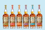 Lineup of Plantation Rum bottles