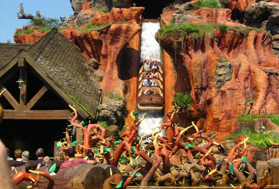 Disney's Splah Mountain log flume ride