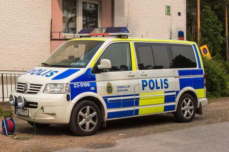 Swedish police van