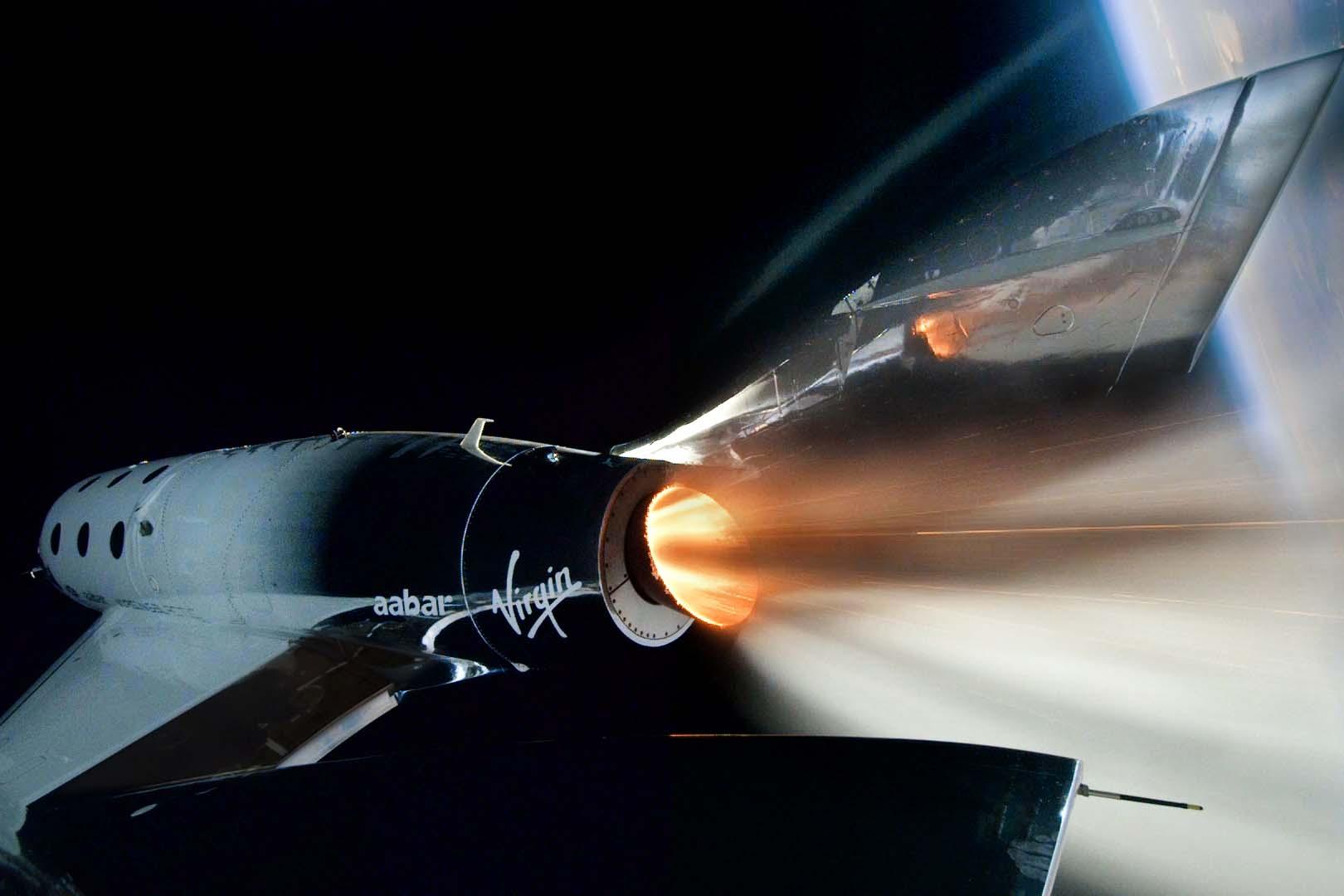 Virgin Galactic craft in space