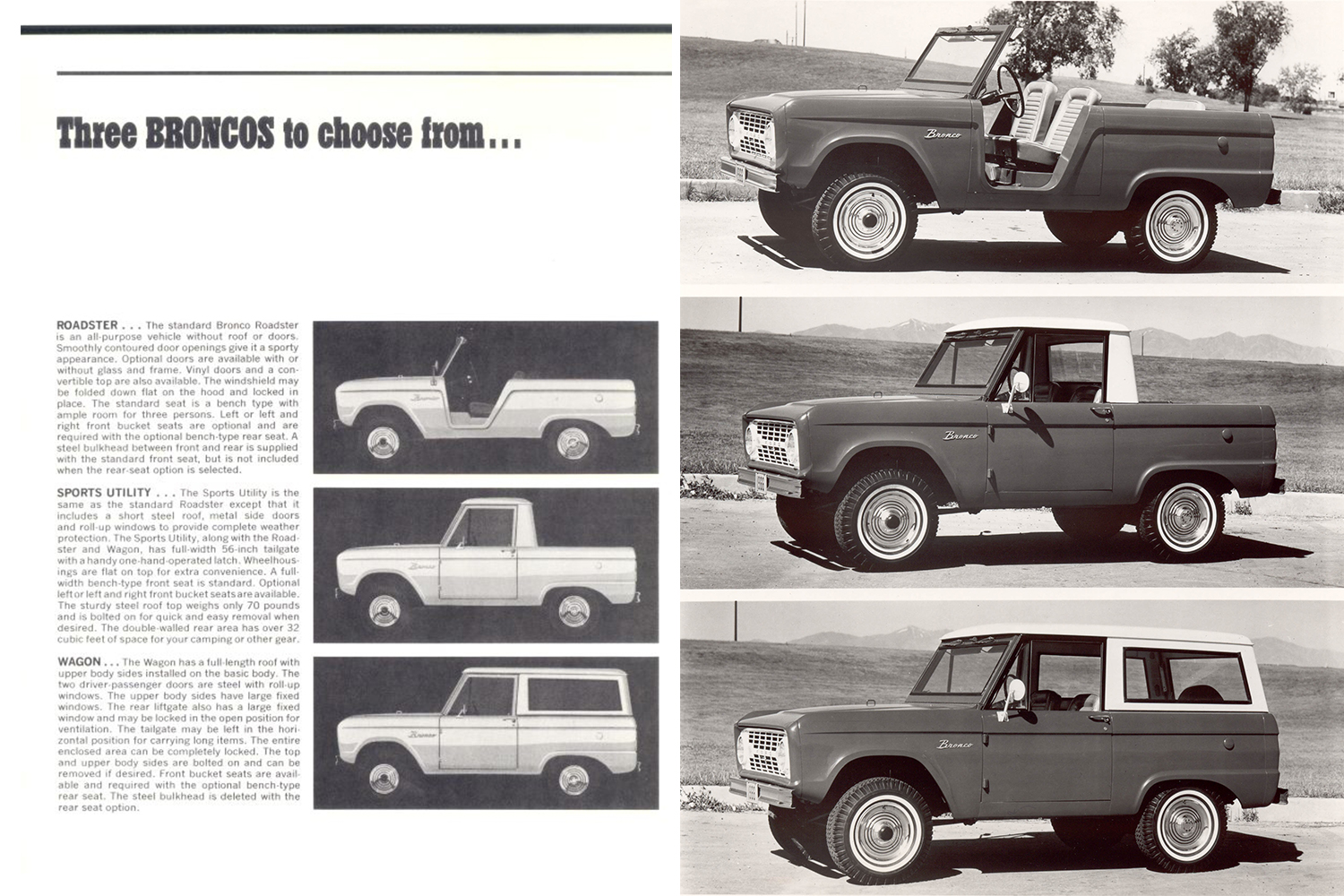 1966 first generation Ford Bronco ads and marketing materials