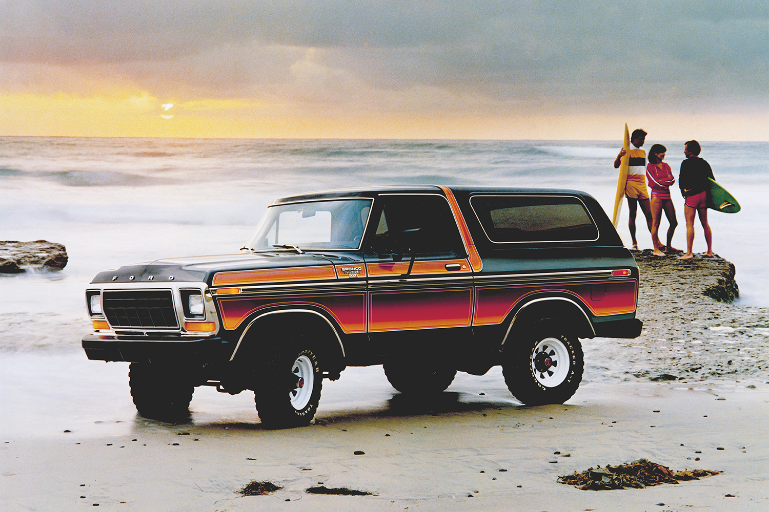 1979 Ford Bronco on the beach