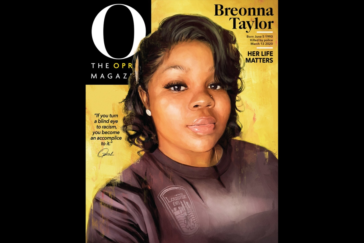 Breonna Taylor on the cover of O, The Oprah Magazine
