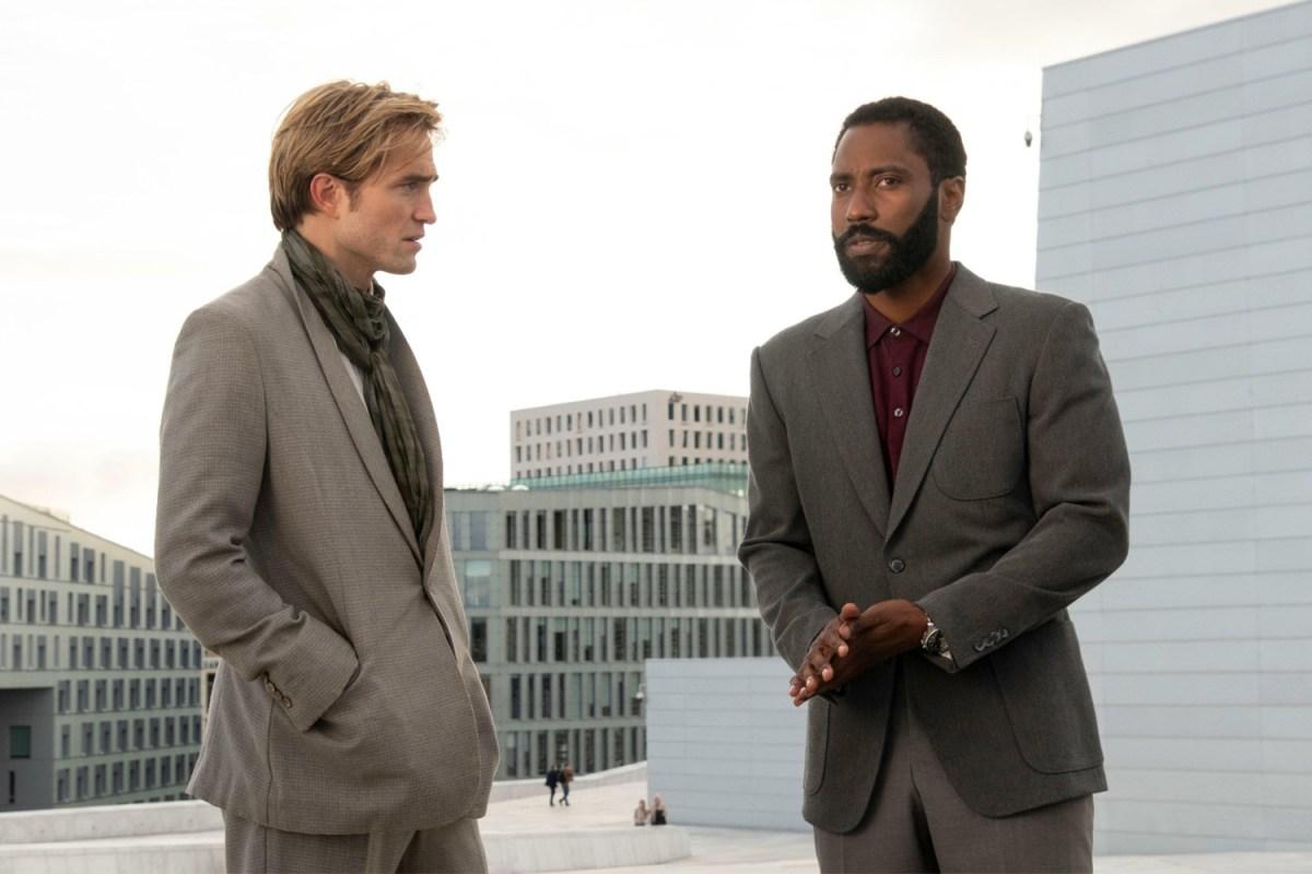 "Robert Pattinson and John David Washington in Christopher Nolan's Movie ""Tenet"""