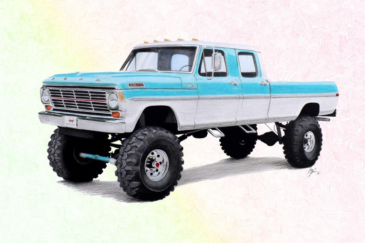 Gateway Bronco Ford F-Series pickup truck restomod rendering