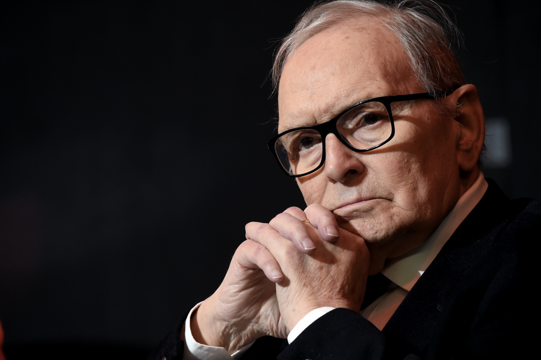 Ennio Morricone attends the Honorary Degree at Accademia di Belle Arti di Brera on February 27, 2019 in Milan, Italy.  (Photo by Pier Marco Tacca/Getty Images)