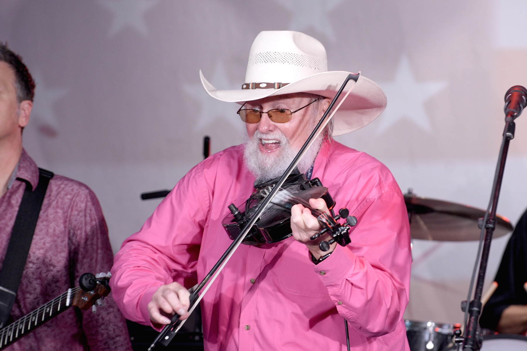 "Charlie Daniels performs during FOX News Channel's ""FOX & Friends"" All-American Summer Concert Series on June 21, 2019 in New York City. (Photo by Gary Gershoff/Getty Images)"