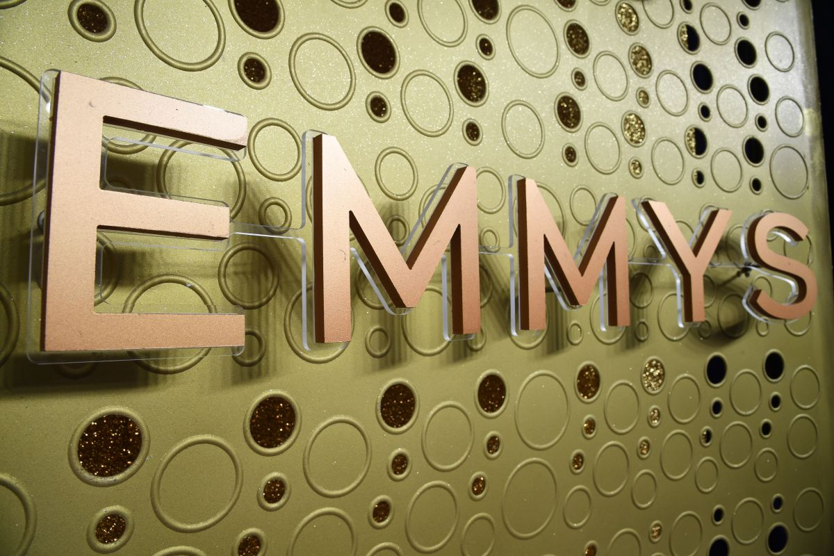 An Emmy Awards logo is pictured ahead of the 71st Emmy Awards on September 21, 2019, in Los Angeles, California. (Photo by Robyn Beck / AFP)