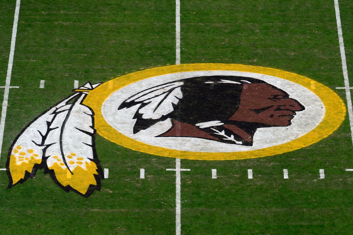 A general view of the Washington Redskins logo. (Patrick McDermott/Getty)