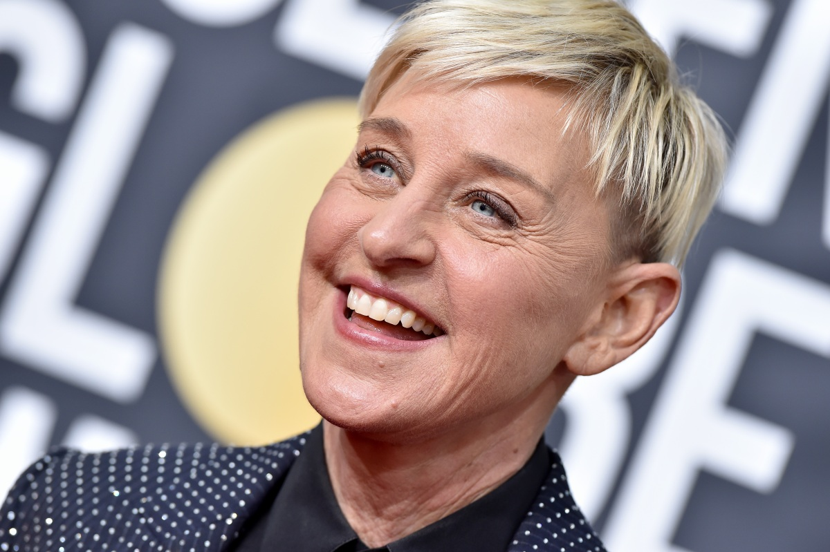 Ellen DeGeneres attends the 77th Annual Golden Globe Awards at The Beverly Hilton Hotel on January 05, 2020 in Beverly Hills, California