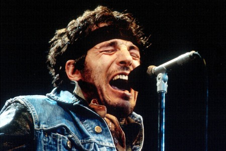 Bruce Springsteen performs during the last show of the 1985 'Born in the U.S.A. Tour'. in Los Angeles, California (Photo by Bob Riha Jr/WireImage)