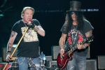 Axl Rose and Slash of Guns N' Roses perform in concert during weekend one of the 2019 ACL Fest at Zilker Park on October 4, 2019 in Austin, Texas