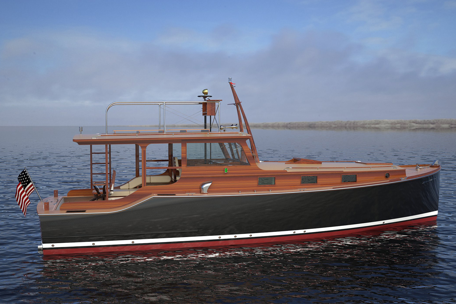 The New Wheeler 38, a Recreation of Ernest Hemingway's boat Pilar from the Wheeler Yacht Company