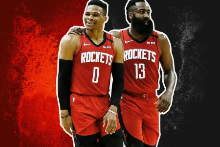 The Houston Rockets Russell Westbrook and James Harden, one of the NBA's most dynamic duos the league