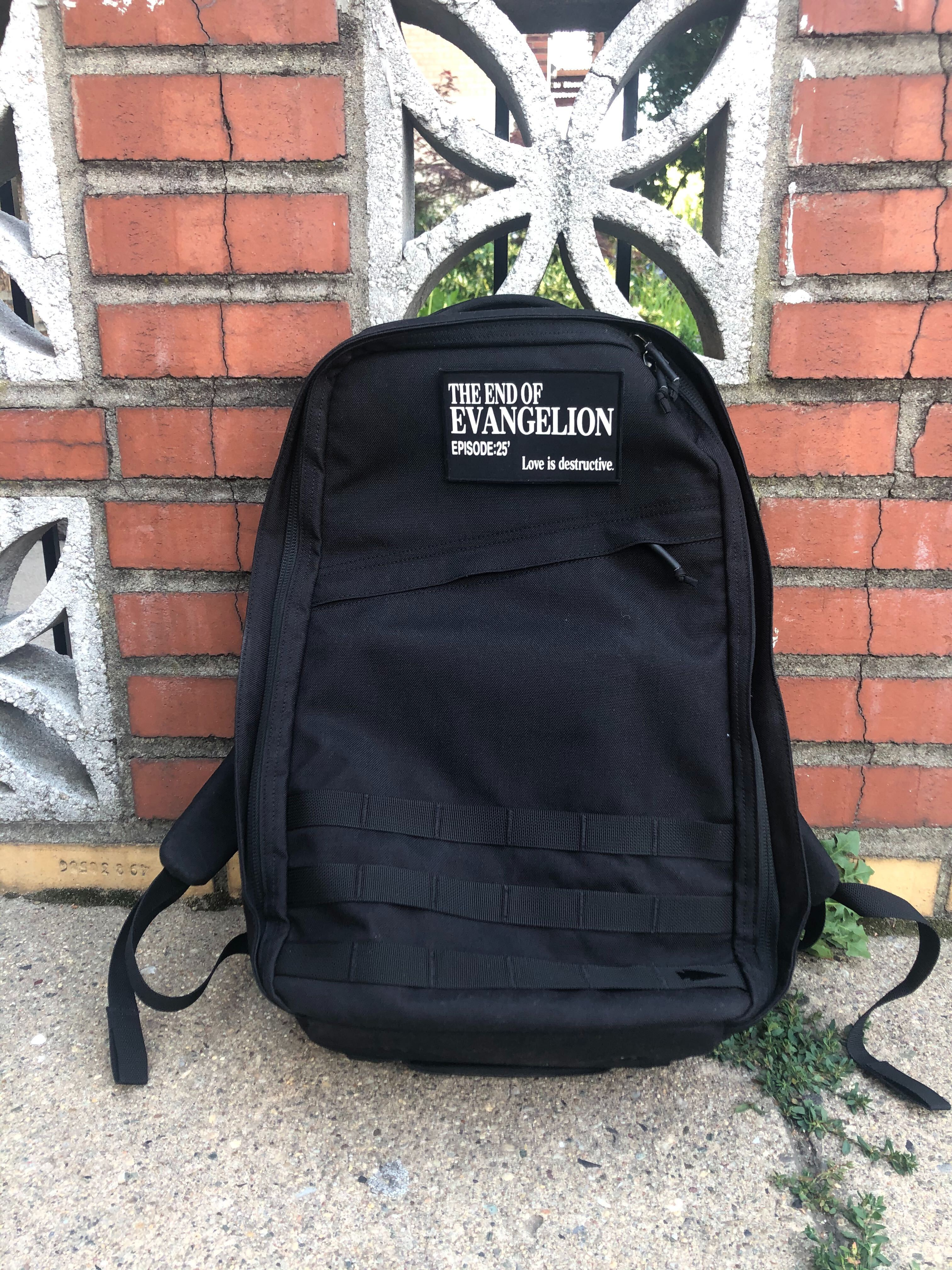 The writer's GoRuck GR1. There's a military-style velcro spot for you to add any patch you want to the back.