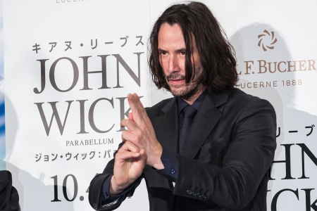 Actor Keanu Reeves at the John Wick premiere
