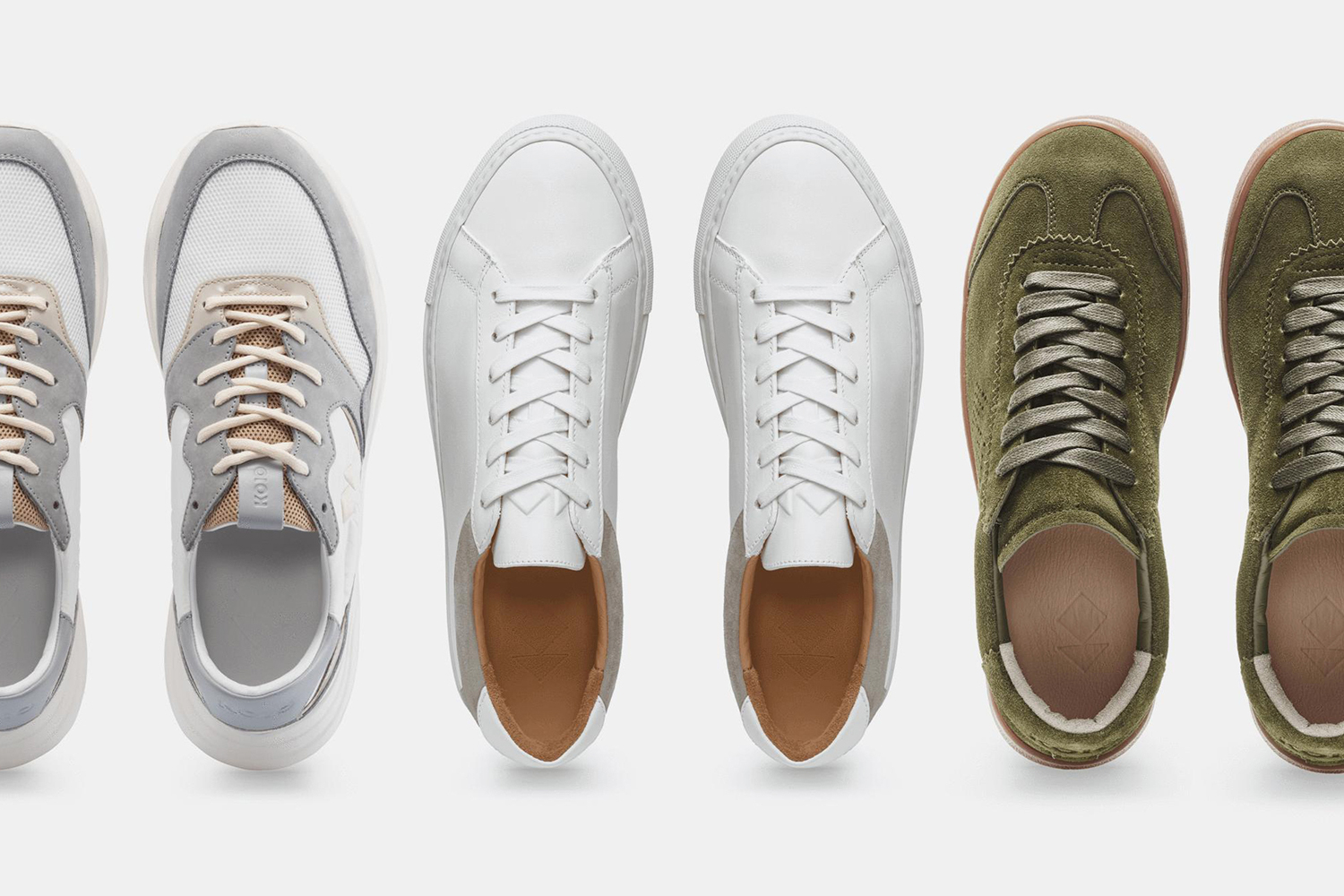 Koio men's sneakers on sale including the Avalanche, Capri and Tempo