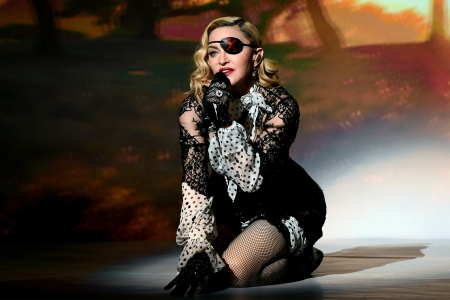 Madonna performing at the 2019 Billboard Music Awards