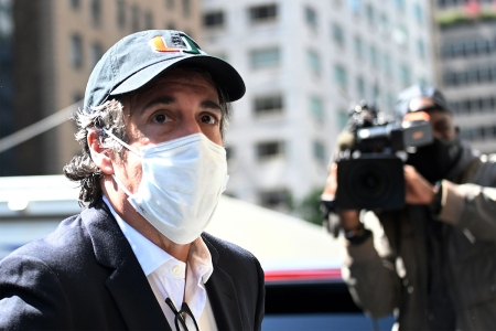 Michael Cohen, President Donald Trump's former personal attorney, arrives at his Park Avenue apartment on May 21, 2020, in New York City