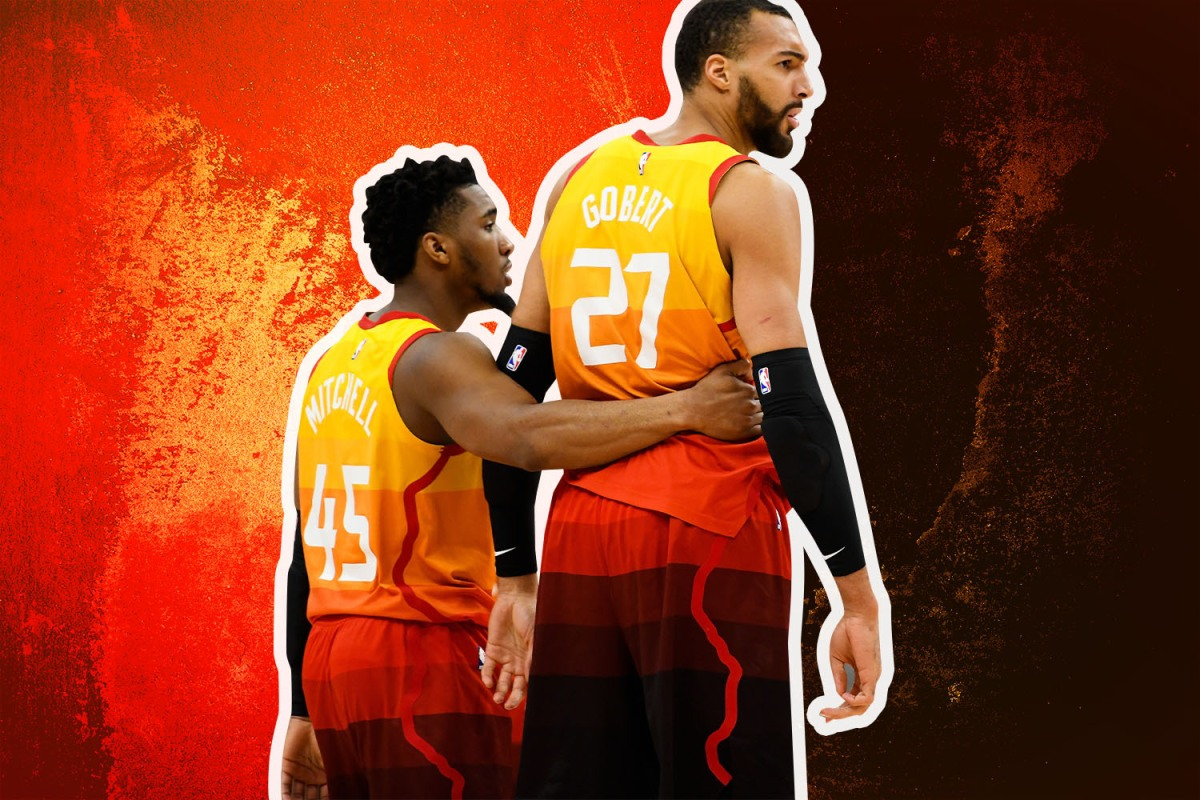 Donovan Mitchell and Rudy Gobert play for the Utah Jazz