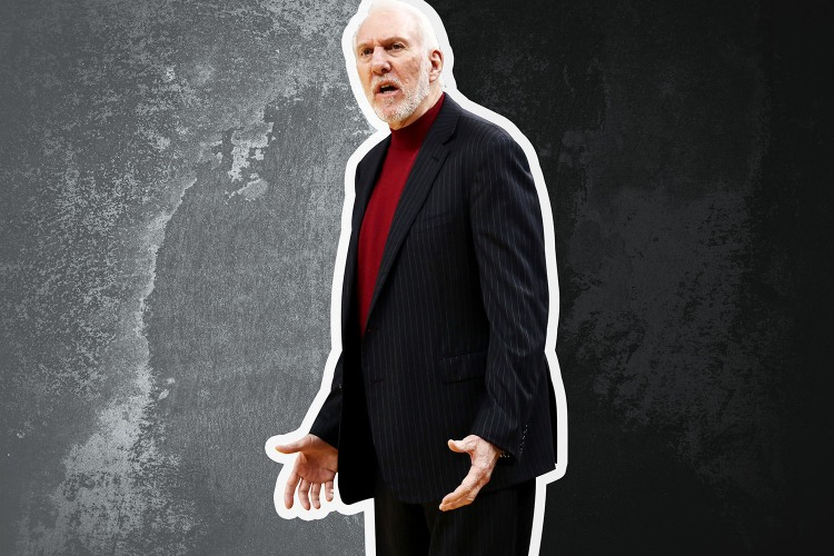 Gregg Popovich coaches the San Antonio Spurs