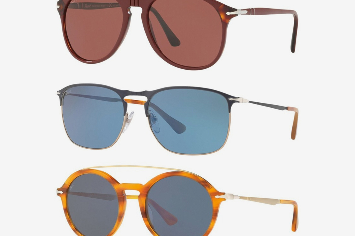 Persol men's rounded, square and aviator sunglasses