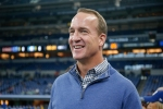 Peyton Manning before an Indianapolis Colts game in November 2019
