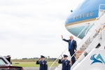 President Donald J. Trump arrives into Philadelphia, PA
