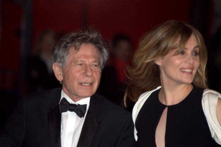Roman Polanski and Emmanuelle Seigner in 2011