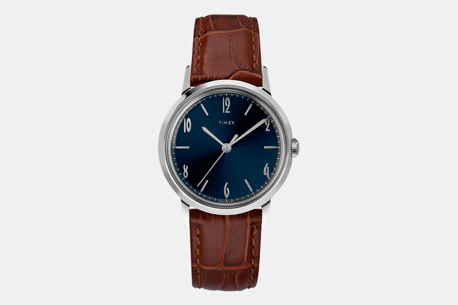 Timex Marlin Hand-Wound 34mm Leather Strap