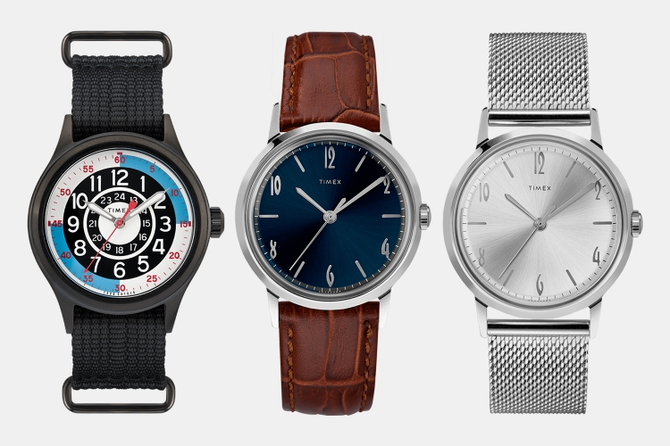 Timex Todd Snyder Blackjack, Marlin Hand-Wound Leather and Hand-Wound in Stainless Steel Watches