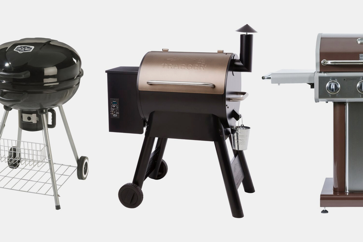 Grills on sale at Wayfair from Traeger, Kenmore and PantherGrill