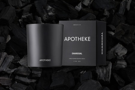 The Apotheke charcoal candle is the perfect summer scent.