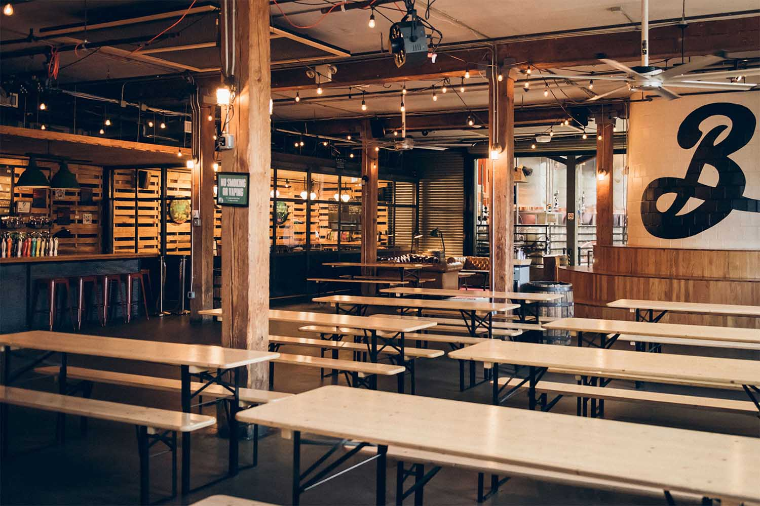 Brooklyn Brewery's storied taproom in Williamsburg has been closed since early March.