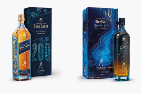 Johnnie Walker Blue Label 200th Anniversary Limited Edition Design and Blue Label Legendary Eight